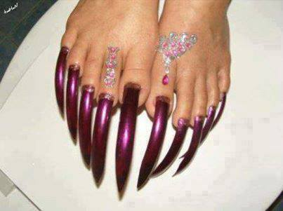 Longest toenails in the world